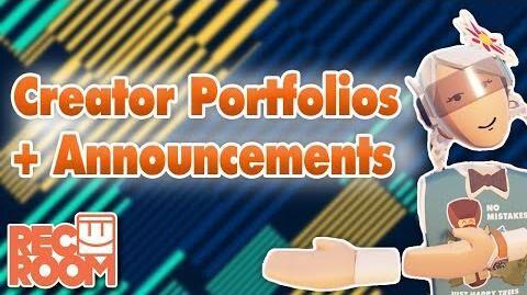 Creator Portfolios and Announcements