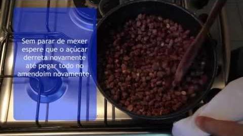 Receita Amendoim Doce (Receitas de Família)