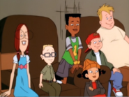 Spinelli and the gang watching