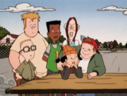 Spinelli talking to the gang 4