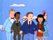 The gang walking during Picture Day