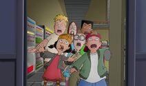 The gang is shocked