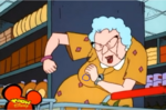 Animation error in Weekend at Muriel's