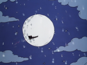 Santa Claus on the front of the moon