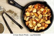 Ranch fried potatoes