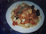 Adriatic Fish Stew over Angel Hair Pasta