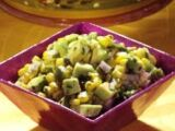 Avocado Corn Poblano Salad