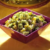 Avocado Corn Poblano Salad