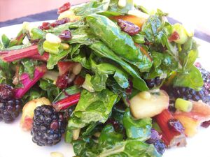 Kale and fruit salad