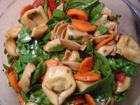 Fresh basil tortellini salad