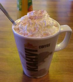 Hot chocolate mug with whipped cream