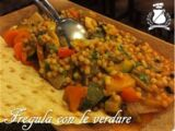 Fregola with vegetables