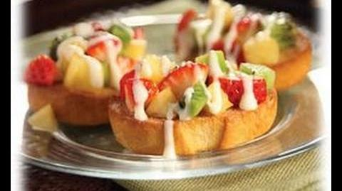 How to Make the Fruit Bruschetta