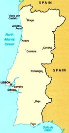 Map of Portugal