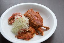 Wok-Fried Sea Crab with Salted Duck Egg in Curry Sauce 1-3-