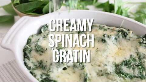 How to Cook the Creamed Spinach Gratin