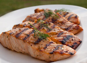 Grilled-salmon-herbs
