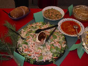V shrimp salad
