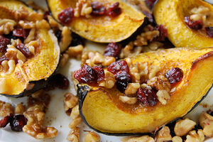 Roasted-Acorn-Squash-With-Walnuts-and-Cranberries-Recipe