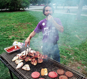 Grilling guy