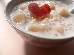 Tapioka+coconut+milk+with+peach-5309