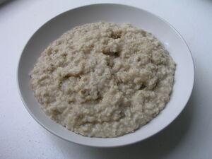 Havregrød på vand