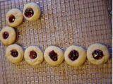 Raspberry Filled Almond Shortbread with Almond Glaze