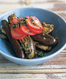 Japanese Eggplants With GarlicOlive Oil and Tomatoes