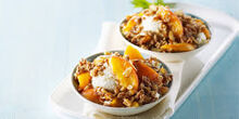 Almond-Peach Crumble