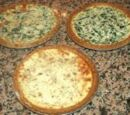 Lower-low-cal Buttermilk Bacon Spinach Quiche