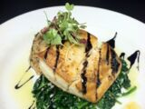 Seared Mahi Mahi and Wilted Spinach