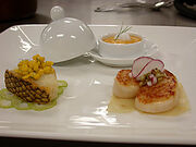 Sea Bass with Corn Ragout