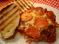 Three meat lasagna