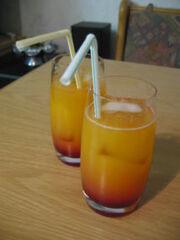 Cocktail peach lady