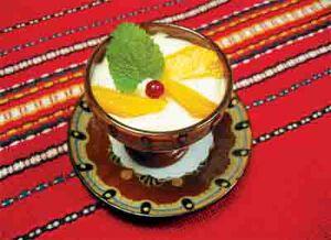 Sour milk dessert