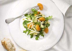 Mare fennel avocado and clementine salad with wild arugula and mint h