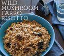 Mushroom Farrotto with Chunky Tomato Sauce