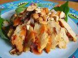 Thai Noodles with Chicken Patties