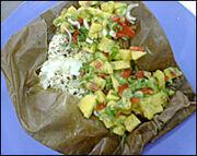 Sea Bass with Papaya Salsa