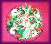 Shrimp and Avocado Salad w pink sauce
