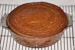Persimmon Pudding Fresh Out Of The Oven Before Shrinking 5