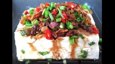Healthy Steamed Tofu Topped With Crispy Fried Shallots Recipe