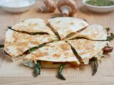 Roasted Asparagus and Red Onion Quesadillas
