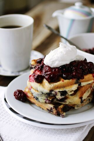 Triple-berry-waffles