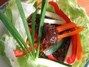 V beef salad