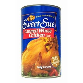 Whole canned chicken