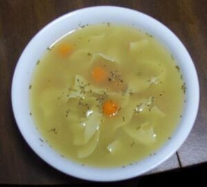 Bowl of chicken soup