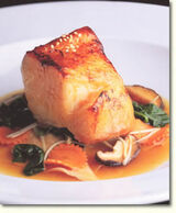 Broiled Sake-marinated Chilean Sea Bass in Shiso Broth