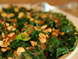 Thai Peanut-drizzled Wilted Spinach