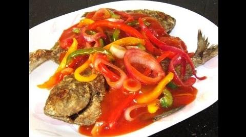 Savory Tomato and Chili Sauce with Fried Pomfret Fish Recipe